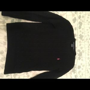 Polo by Ralph Lauren Sweaters - 💥 SALE-Polo Cable-knit Sweater Black w/pink horse